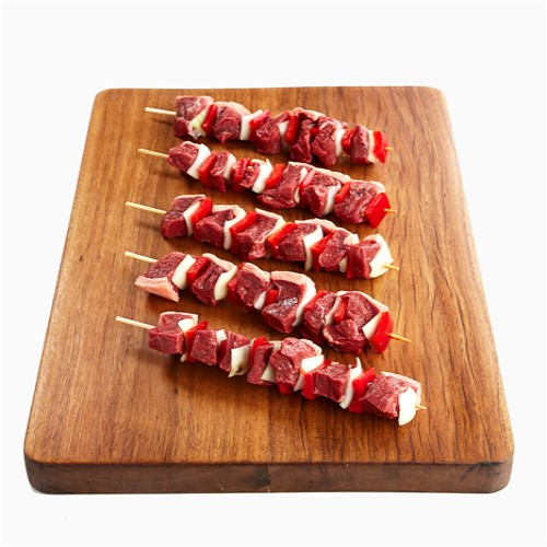 Beef Rump Cap w Onion & Capsicum – Mini Skewer