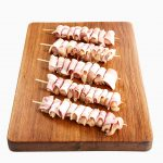Chicken Breast Marinated w Bacon Mini-Skewer 1