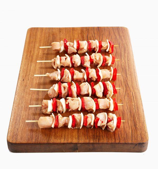 Chicken Breast Marinated w Capsicum & Onion Mini-Skewer 2